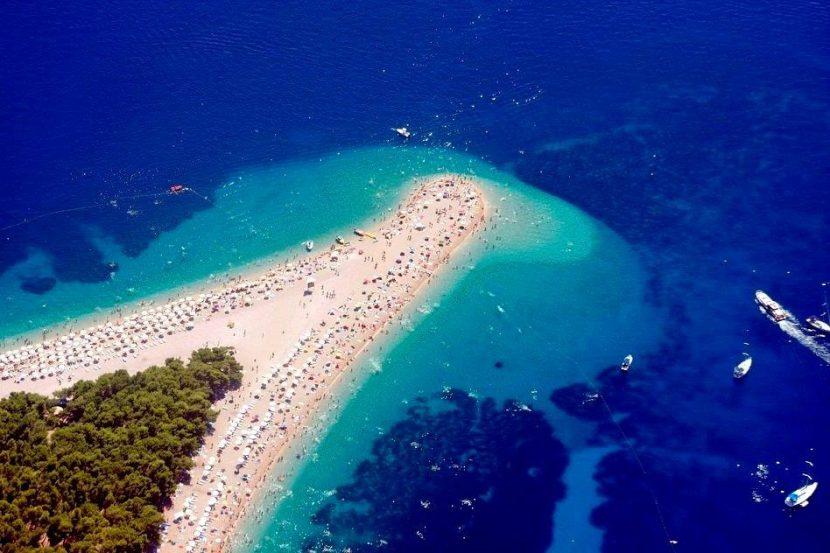 golden cape beach on Brač