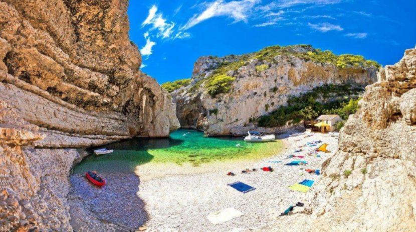 Stinva beach Croatia