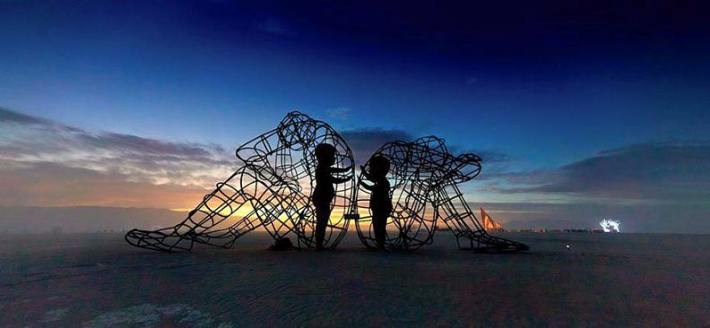 Burning Man Sculpture, photo by Andrew MIller