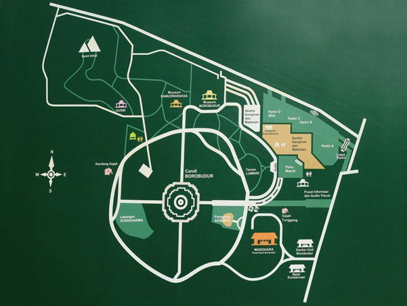 Map Borobudur