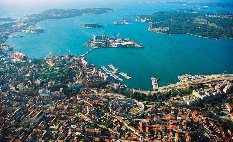 The view of Pula