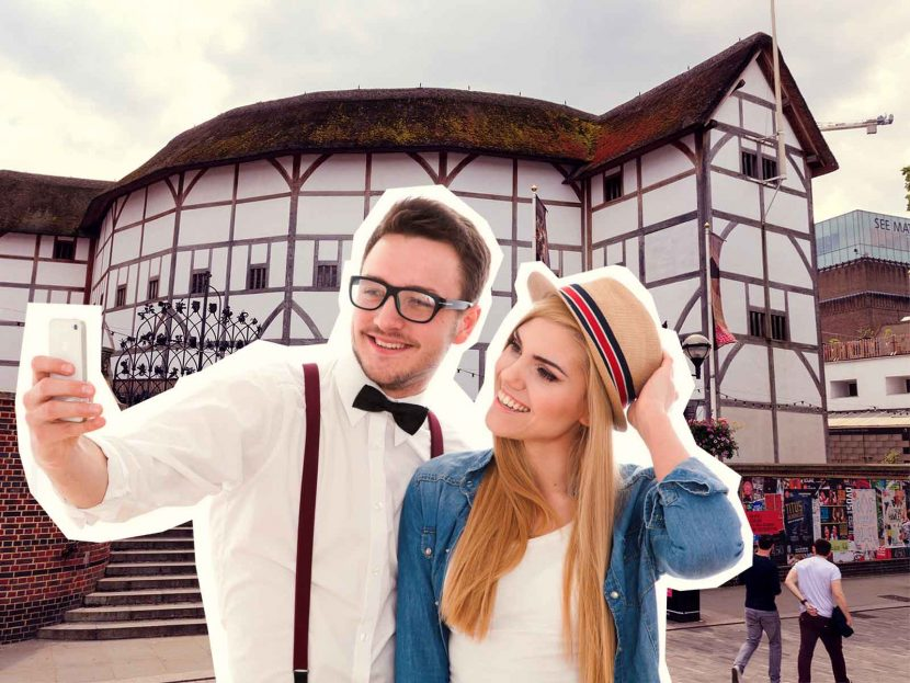 top 10 London selfie spots Globe Theatre