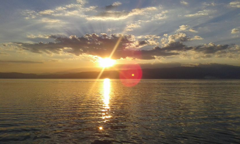 Discovering Ohrid - Sunset over the Lake