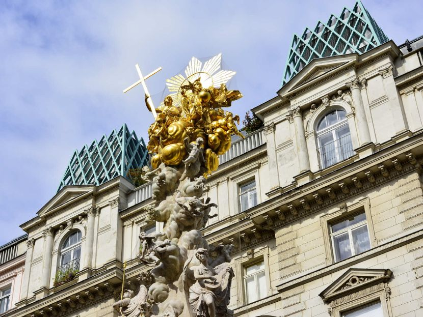 Explore the Heart of the Old Town of Vienna Black Death Column