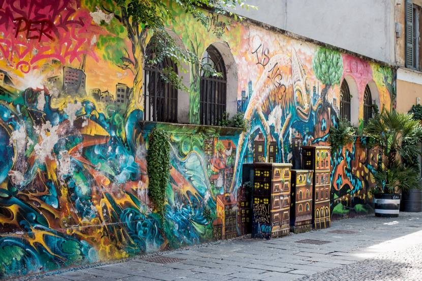 est things to do in Milan for free - Street Art