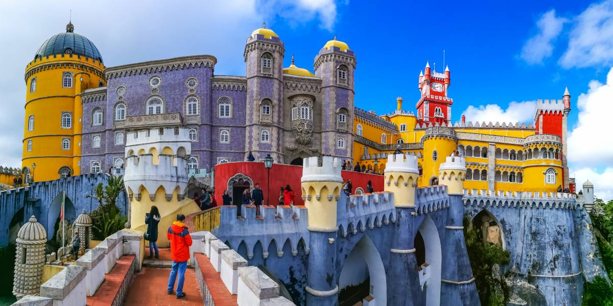 Most beautiful palaces in Europe: The colorful Pena palace in Portugal
