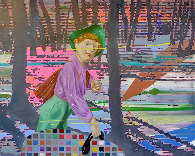 "Martin Praska: ""The Secret I Left Behind,"" 2019, 160 x 200 cm, acrylic and oil paint on canvas © Bildrecht GmbH"