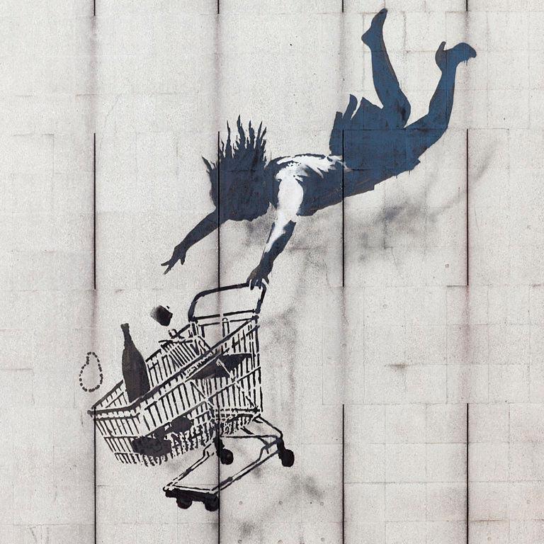 Street Art in Europe: Banksy - Shop Until You Drop