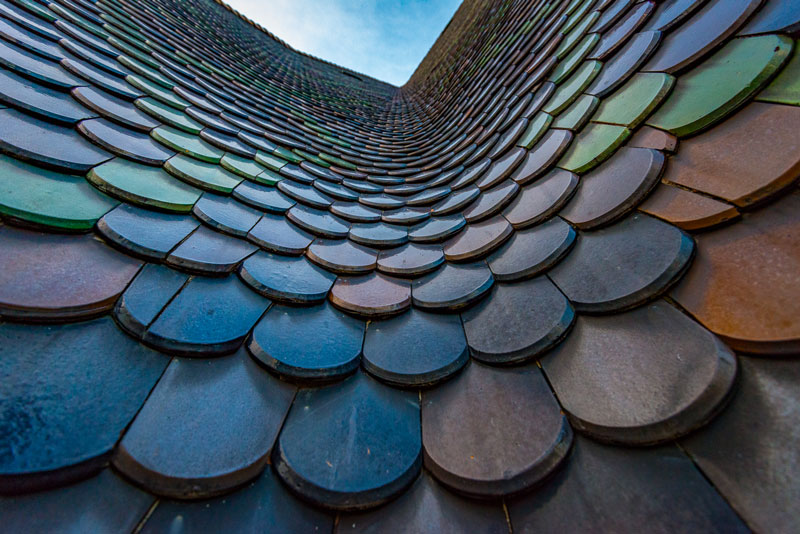 No less than 230,000 colorful tiles cover the roof of St. Stephen's Cathedral
