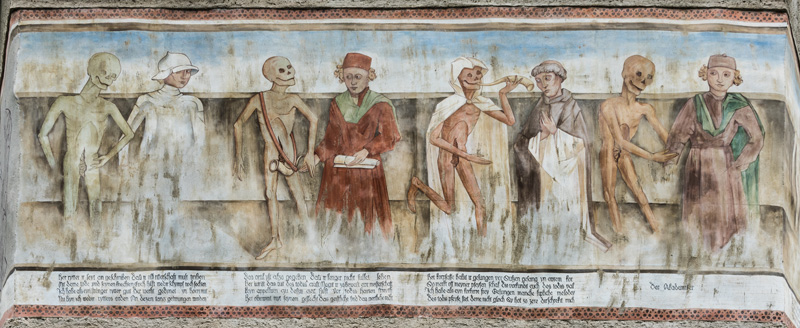 Reconstructed frescos at the ossary in Methnitz (cc) Johann Jaritz / CC BY-SA 4.0 via wikipedia