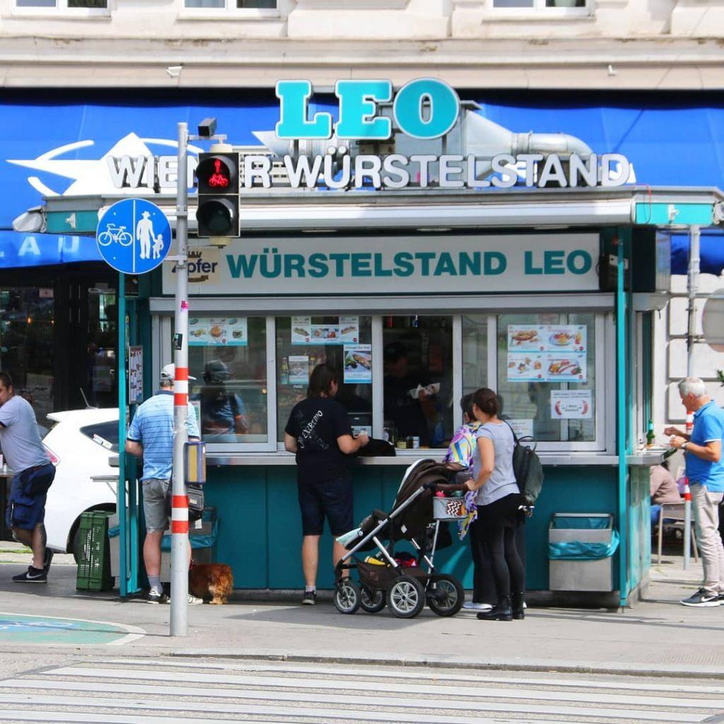 Würstelstand Leo is the oldest sausage stand in Vienna.
